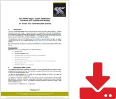 Infill Certificate