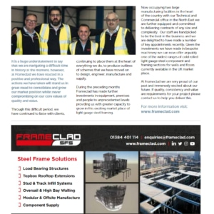 Frameclad Magazine Article Light Steel Framing Magazine Frameclad