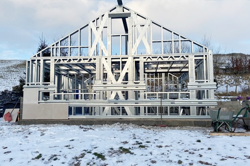 Frameclad Shed Build In Cumbria Face On